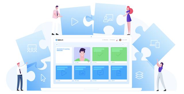 Methoden für E-Learning in Unternehmen (Illustration blinkit)