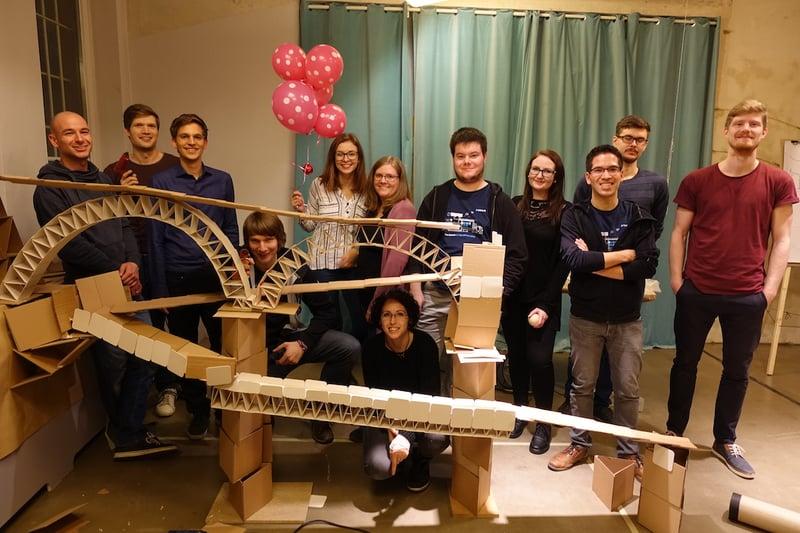 das blink.it-Team bei der Weihnachtsfeier 2018