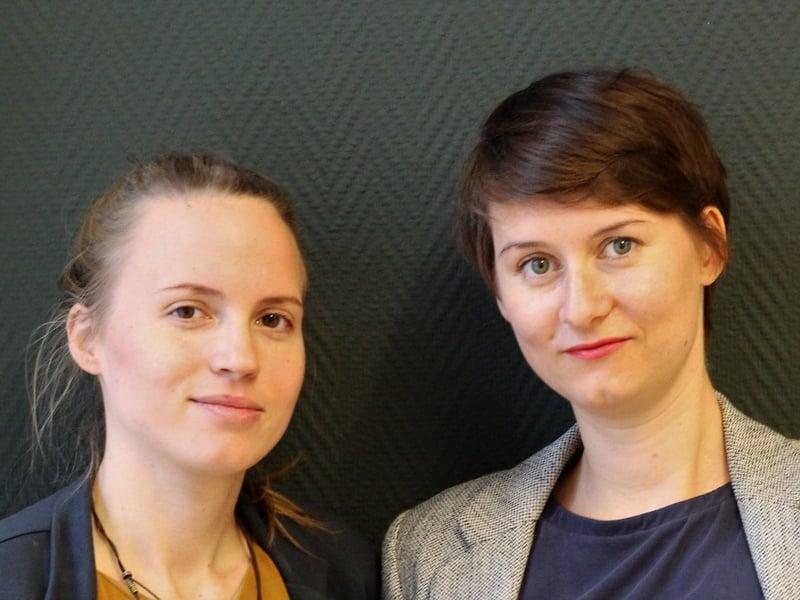 Friederike Euwens von Alles Roger, mit Kollegin Lea Böhm