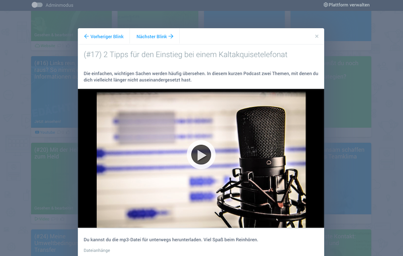 Podcasts in der Weiterbildung: Mit dem Tool blink.it