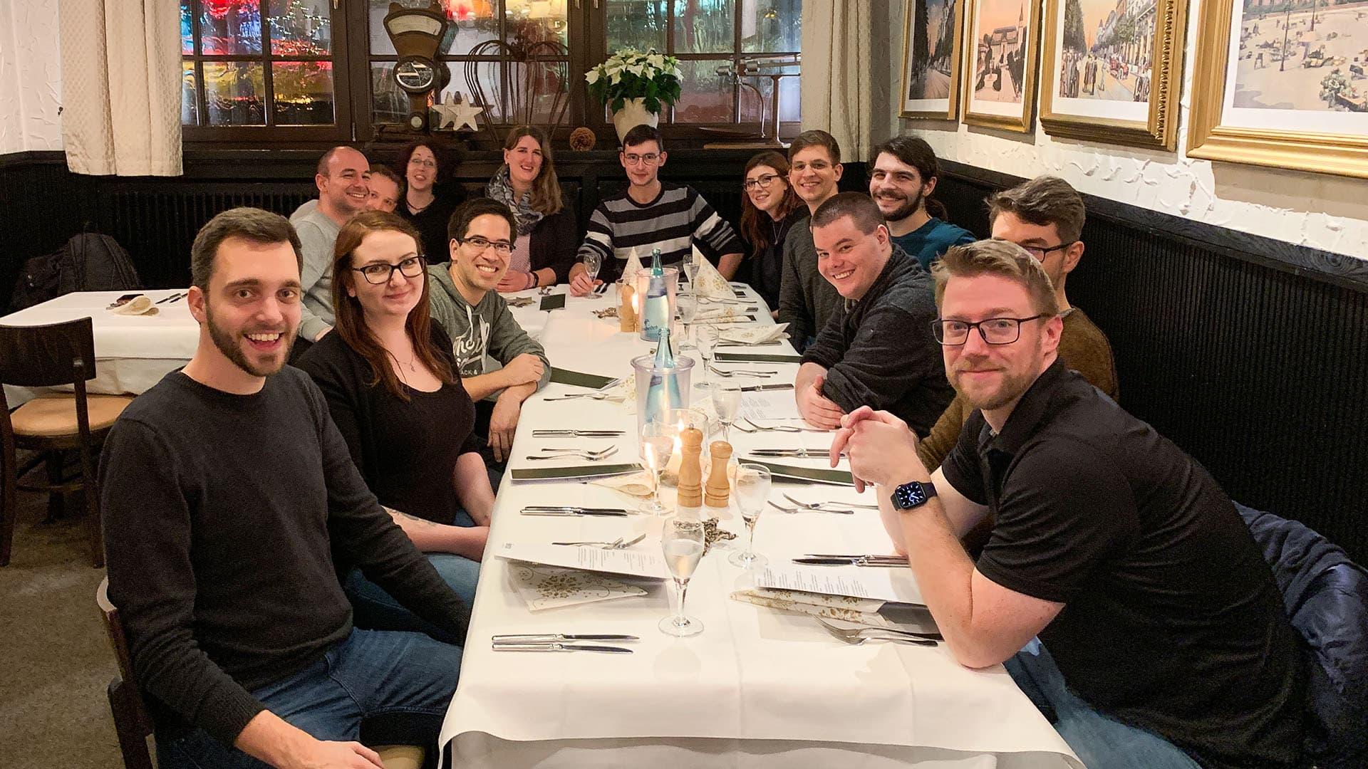blink.it Weihnachtsessen 2019 mit dem ganzen Team