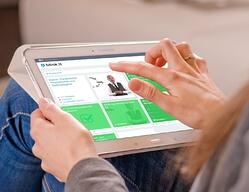 blink.it am Tablet: Software für Trainings