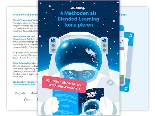 Cover: Anleitung für 4 Methoden als Blended Learning konzipieren
