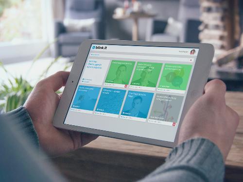 Online-Kurs am Tablet: Beispiel für Blended Learning