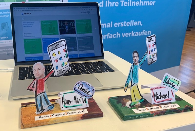 Trainer Kongress 2019: Schokolade für blink.it